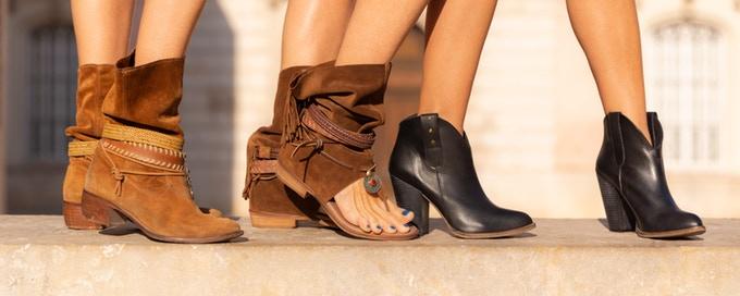 botines y sandalias boho-chic