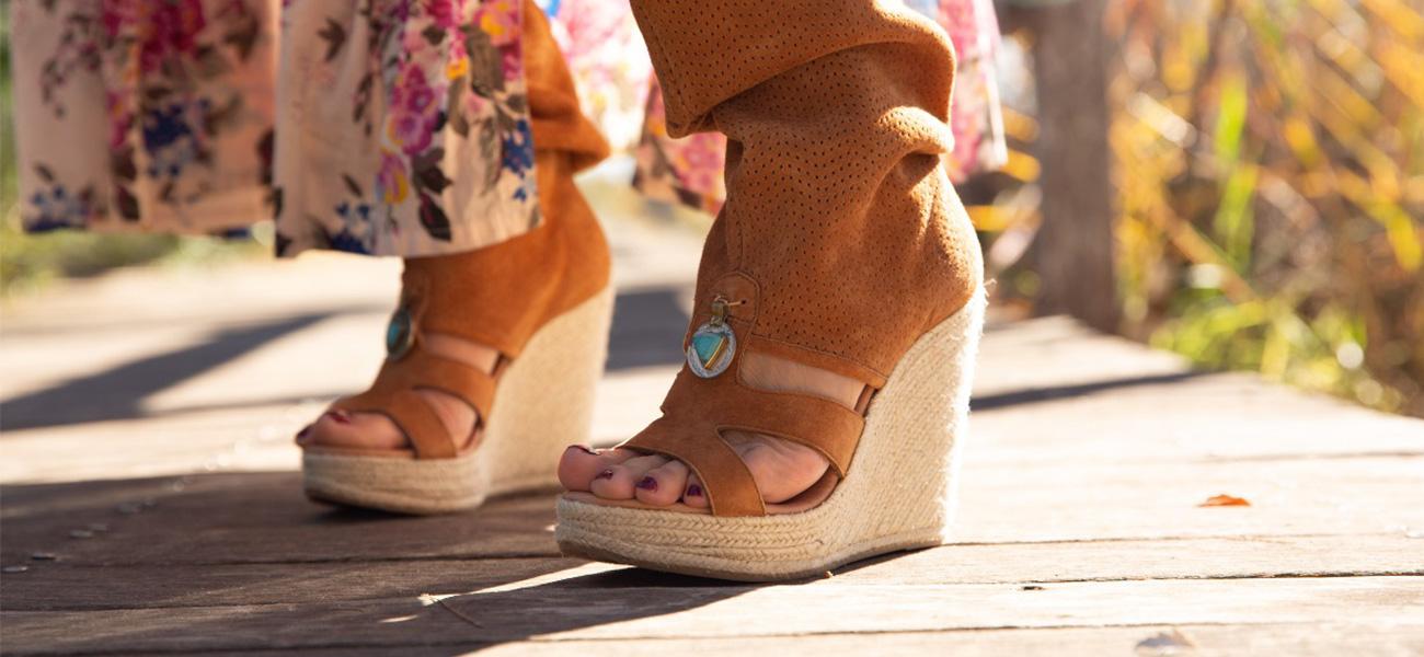 sandalias y botines boho chic